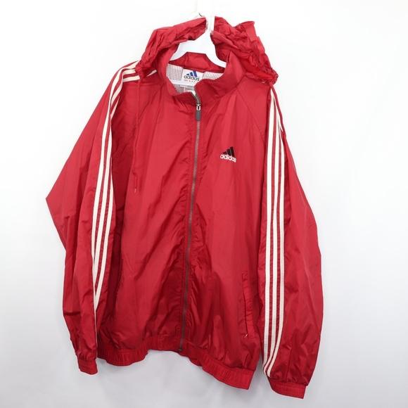 a5b58da420e3d 90s Adidas Mens XL Spell Out Windbreaker Jacket